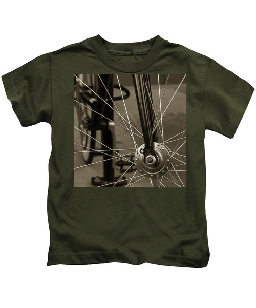 Urban Spokes In Sepia Kids T-Shirt