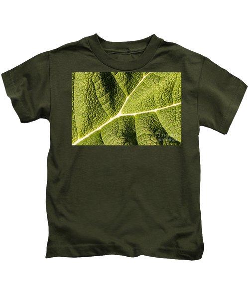 Veins Of A Leaf Kids T-Shirt