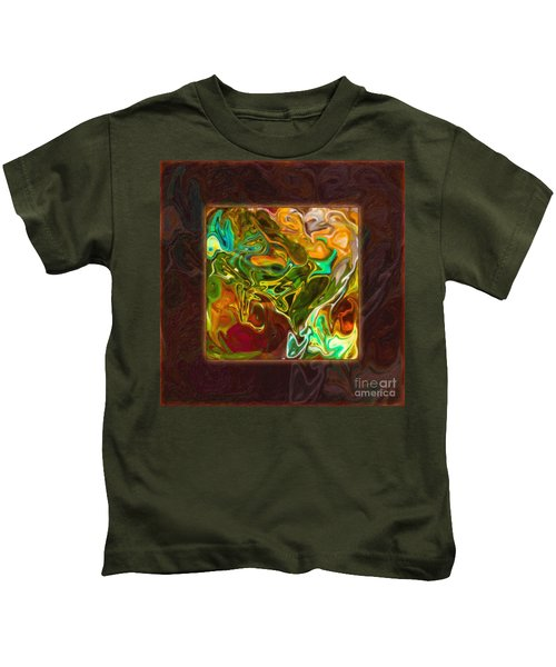 Vibrant Fall Colors An Abstract Painting Kids T-Shirt