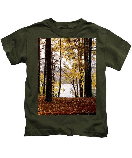 View Of  Lake Mcdonald Kids T-Shirt