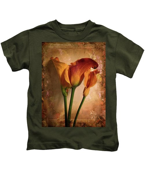 Vintage Calla Lily Kids T-Shirt
