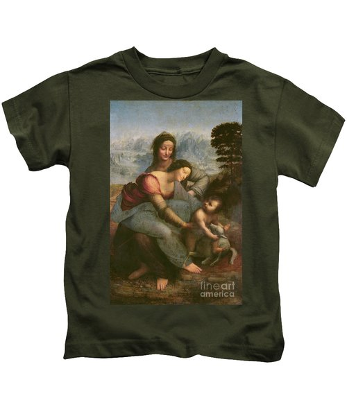 Virgin And Child With Saint Anne Kids T-Shirt