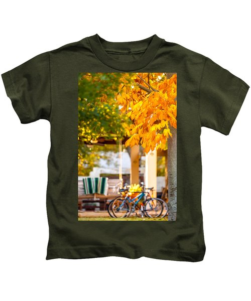 Waiting For A Ride Kids T-Shirt