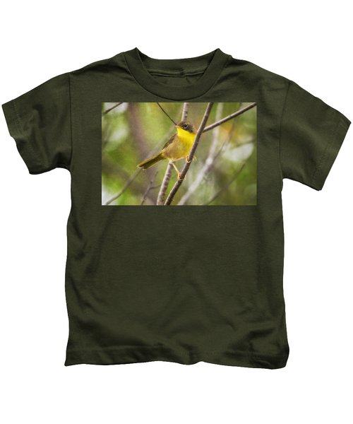 Warbler In Sunlight Kids T-Shirt