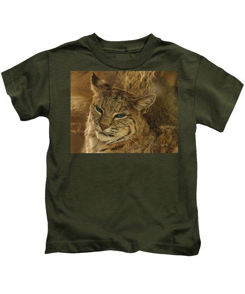 Wary Bobcat Kids T-Shirt