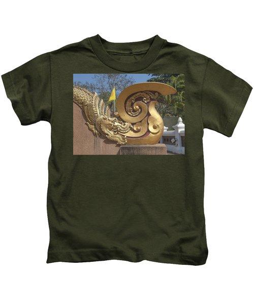 Wat Chedi Liem Phra Ubosot Makara And Stylized Naga Dthcm0838 Kids T-Shirt