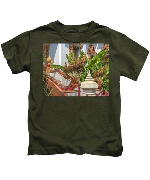 Wat Dokmai Phra Ubosot Stair Naga Dthb1783 Kids T-Shirt