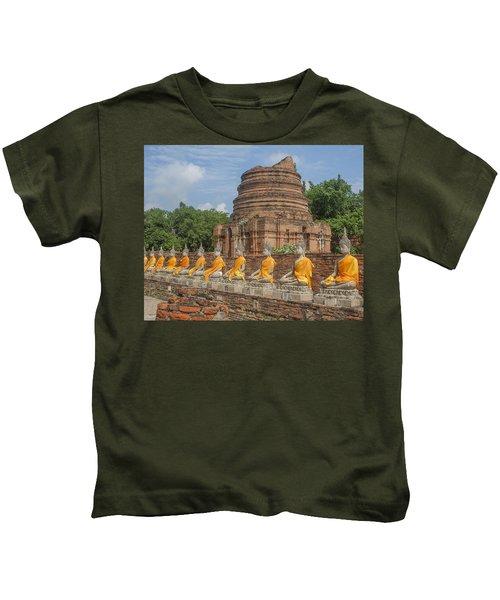 Wat Phra Chao Phya-thai Buddha Images And Ruined Chedi Dtha005 Kids T-Shirt