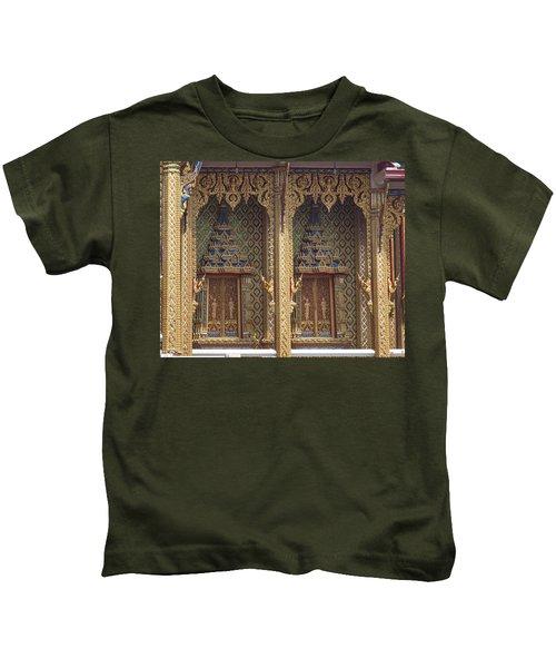 Wat Thung Setthi Ubosot Window Dthb1550 Kids T-Shirt