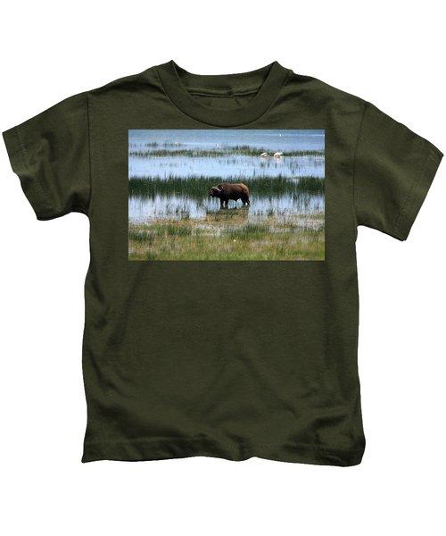 Water Buffalo At Lake Nakuru Kids T-Shirt