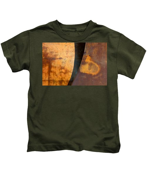 Weathered Bronze Abstract Kids T-Shirt