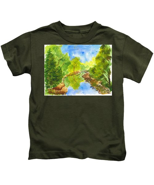 Weber River Reflection Kids T-Shirt
