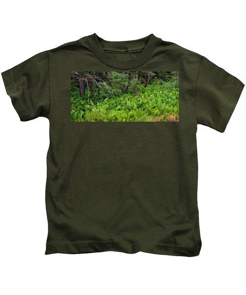 Western Skunk Cabbages Lysichiton Kids T-Shirt