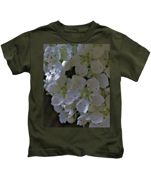 White Blooms Kids T-Shirt