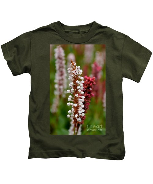 White Stalk Flower Kids T-Shirt