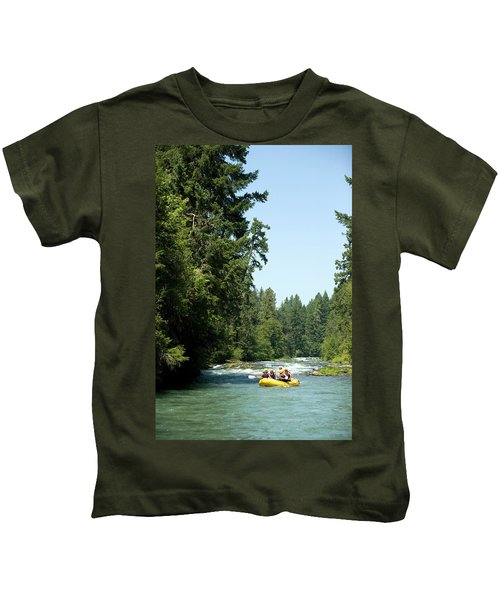 Whitewater Rafting On The White Salmon Kids T-Shirt