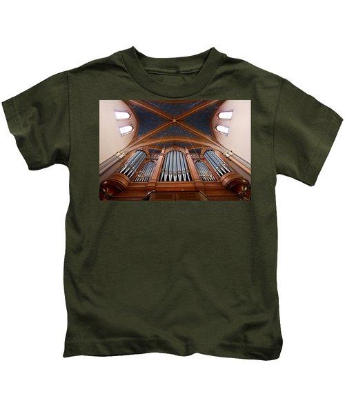 Wiesbaden Marktkirche Organ Kids T-Shirt
