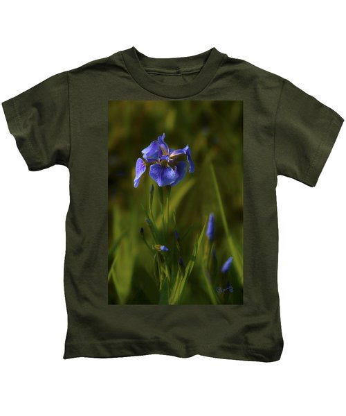 Wild Alaskan Iris Kids T-Shirt