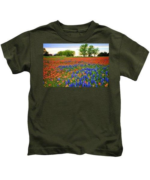 Wildflower Tapestry Kids T-Shirt