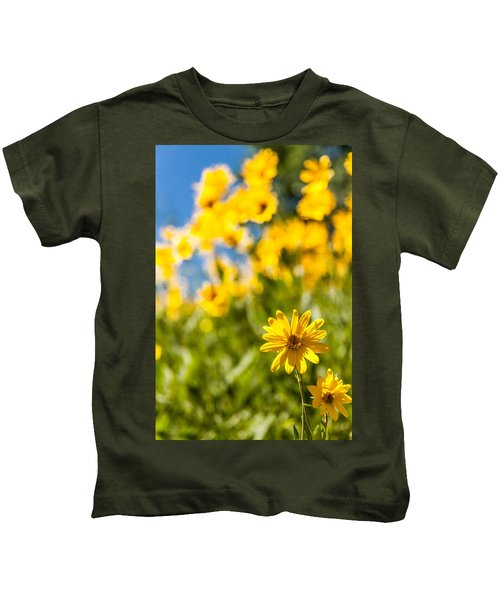 Wildflowers Standing Out Abstract Kids T-Shirt