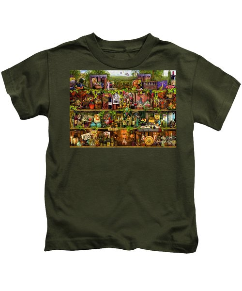 Wine Shelf Kids T-Shirt