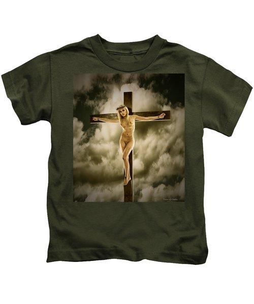 Woman On The Cross Kids T-Shirt