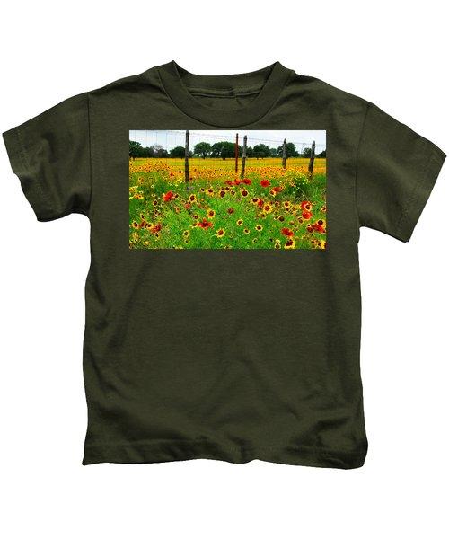Wonderful Wildflowers Kids T-Shirt