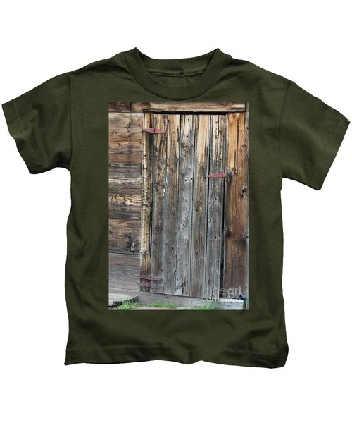 Wood Shed Door Kids T-Shirt