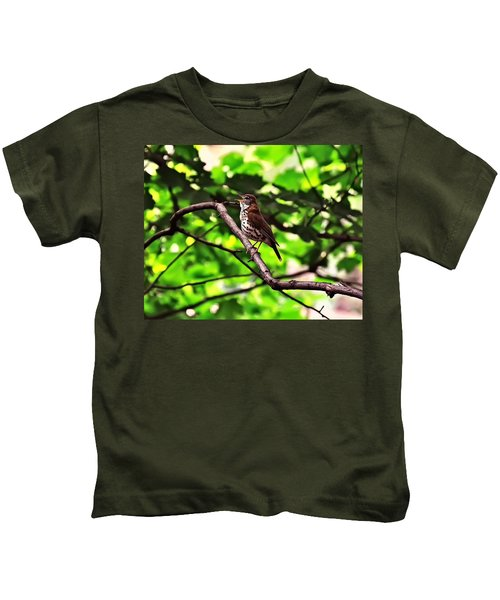 Wood Thrush Singing Kids T-Shirt