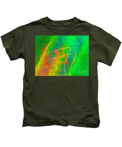 Write Light Rainbow Kids T-Shirt