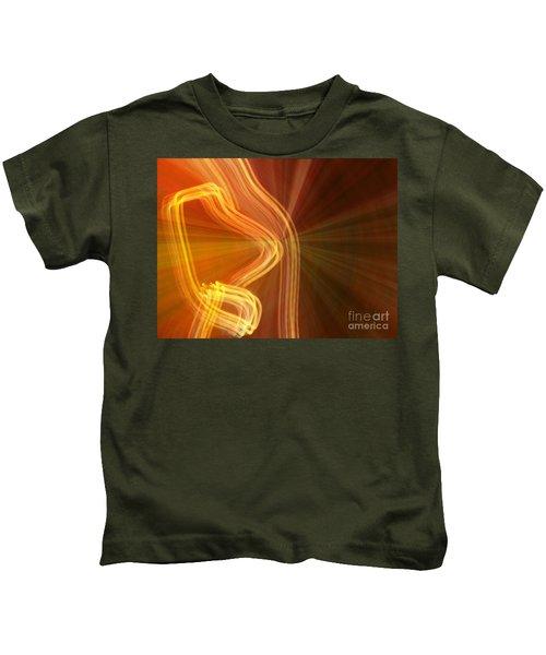 Write Light Shapes Kids T-Shirt