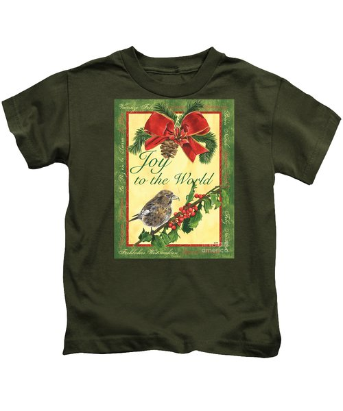 Xmas Around The World 2 Kids T-Shirt by Debbie DeWitt
