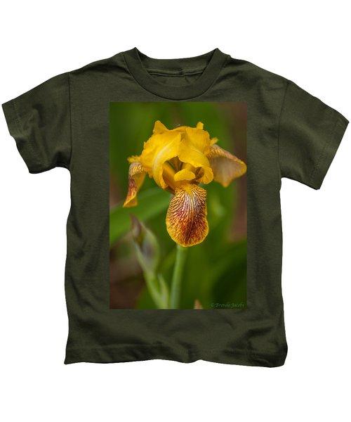Yellow Bearded Iris Kids T-Shirt