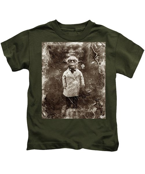 Yoda Star Wars Antique Photo Kids T-Shirt