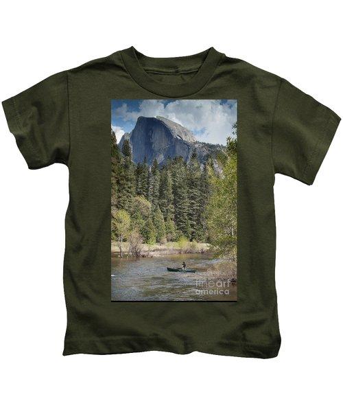 Yosemite National Park. Half Dome Kids T-Shirt by Juli Scalzi