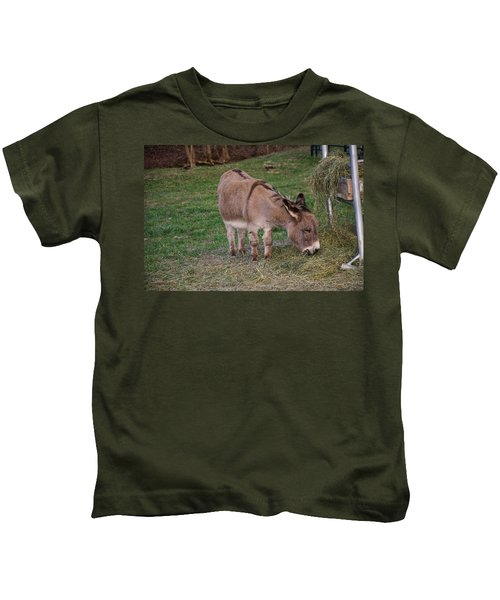 Young Donkey Eating Kids T-Shirt