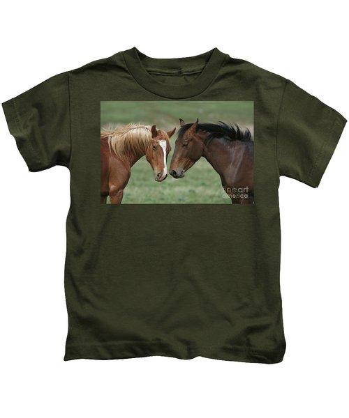 Young Mustang Bachelor Stallions Kids T-Shirt