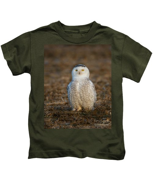 Young Snowy Owl Kids T-Shirt