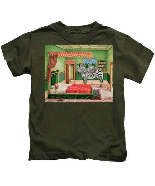Zebra In A Bedroom, 1996 Kids T-Shirt