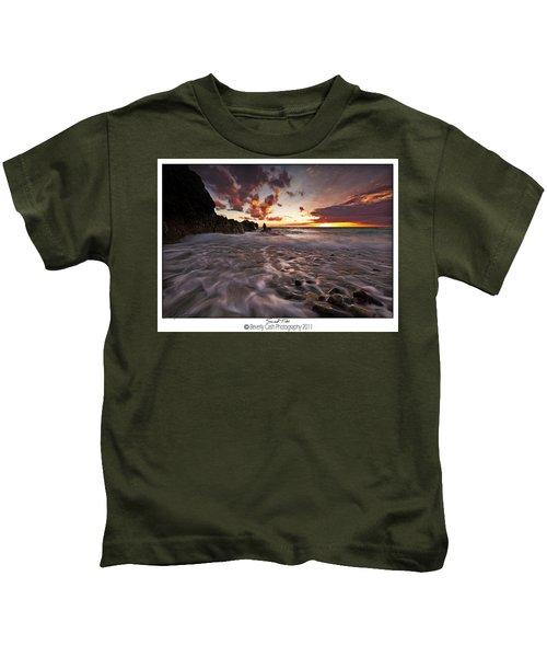 Sunset Tides - Porth Swtan Kids T-Shirt