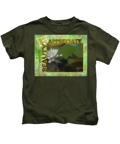 Appreciating Beauty Kids T-Shirt