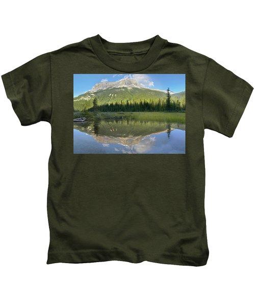 Mt Burgess Reflected In Emerald Lake Kids T-Shirt