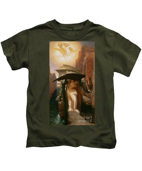 Perseus And Andromeda Kids T-Shirt by Frederic Leighton