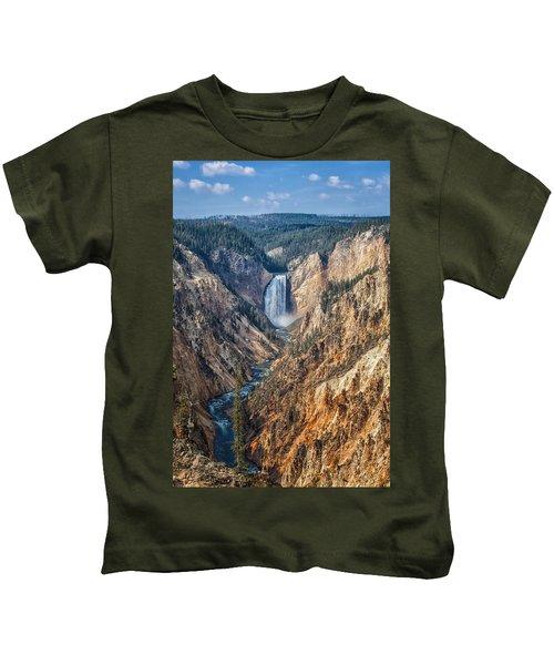 Yellowstone Lower Falls Kids T-Shirt