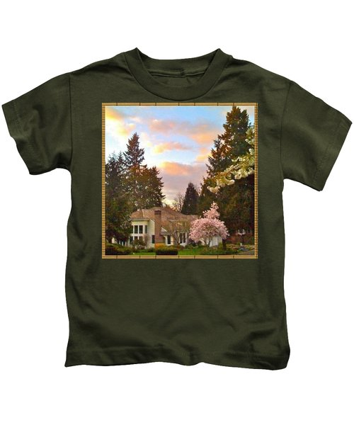A Spring Evening - Lake Oswego Or Kids T-Shirt