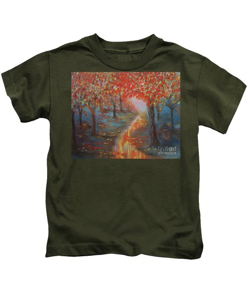 After The Rain In Autumn Kids T-Shirt