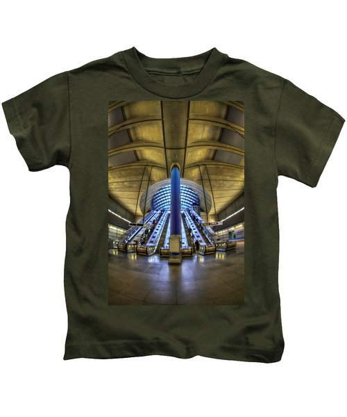 Alien Landing Kids T-Shirt by Evelina Kremsdorf