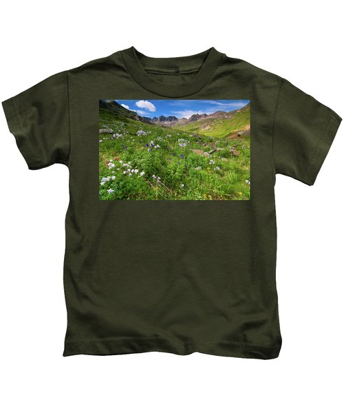 American Basin Wildflowers Kids T-Shirt