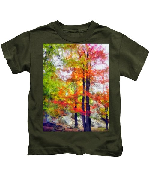Autumnal Rainbow Kids T-Shirt