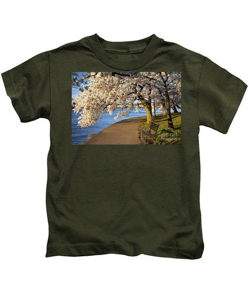 Blossoming Cherry Trees Kids T-Shirt
